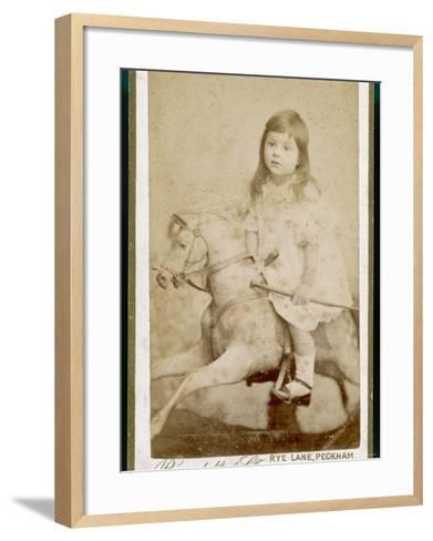 Eric James Age 3 Rides His Rocking Horse--Framed Art Print