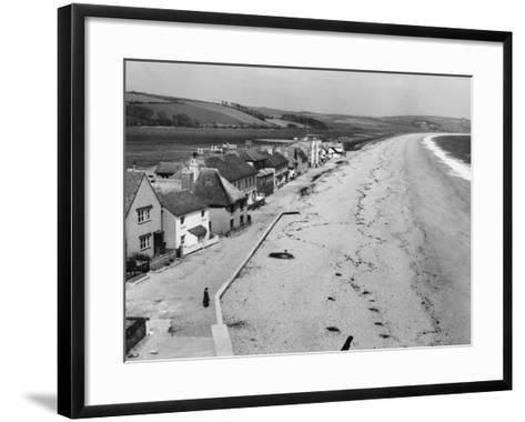 Torcross, the Little Village on Slapton Sands, South Devon, England--Framed Art Print
