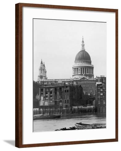 St. Pauls Across Thames--Framed Art Print