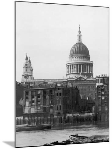 St. Pauls Across Thames--Mounted Photographic Print