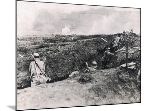 Action on the Western Front Photographed from German Trenches--Mounted Photographic Print