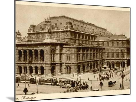 Vienna Opera House or Staatsoper--Mounted Photographic Print