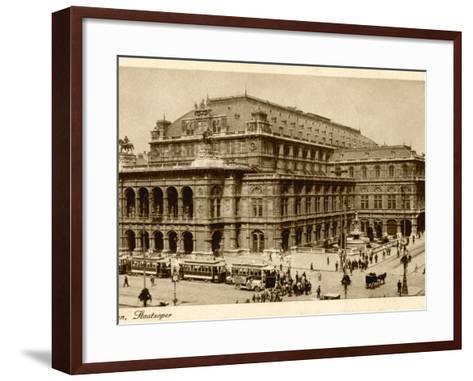 Vienna Opera House or Staatsoper--Framed Art Print