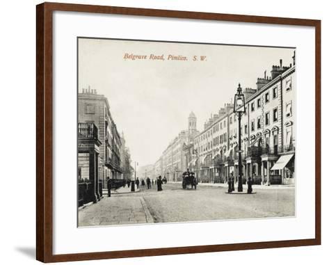 View Looking Down Belgrave Road, Pimlico, London--Framed Art Print
