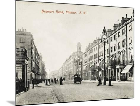 View Looking Down Belgrave Road, Pimlico, London--Mounted Photographic Print