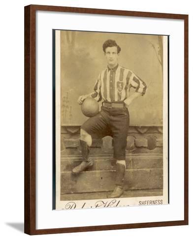 Anonymous Footballer in Kit with Football--Framed Art Print