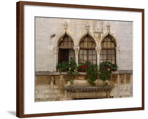 Windows in Porec, Croatia--Framed Art Print