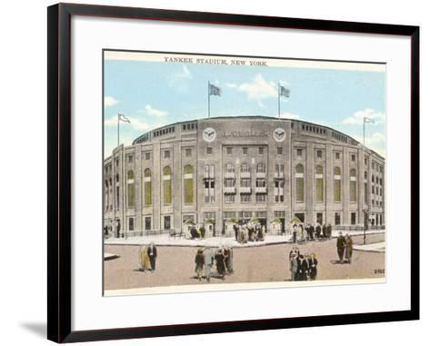 Yankee Stadium - New York--Framed Art Print