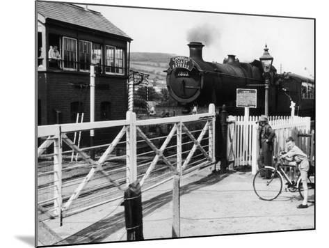 The Cambrian Coast Express Steam Locomotive Train at Llanbadarn Crossing Near Aberystwyth Wales--Mounted Photographic Print