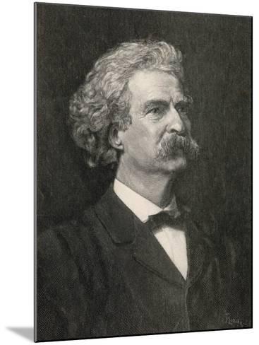 Mark Twain American Writer Creator of Tom Sawyer and Huckleberry Finn--Mounted Photographic Print