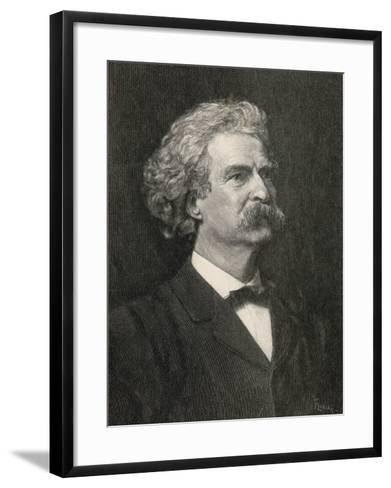 Mark Twain American Writer Creator of Tom Sawyer and Huckleberry Finn--Framed Art Print
