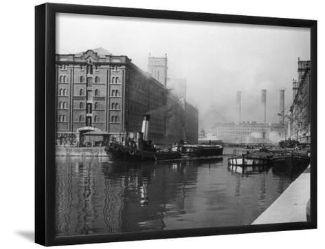 Liverpool Docks--Framed Art Print