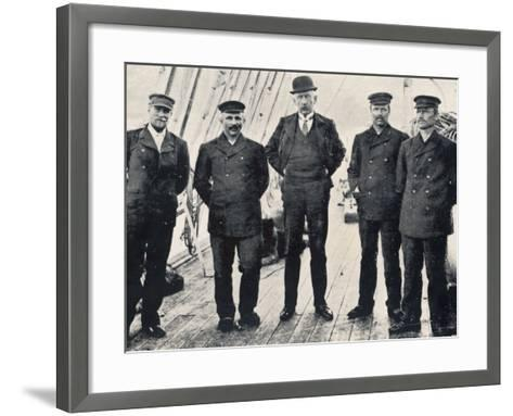 Amundsen and His Team at Hobart--Framed Art Print