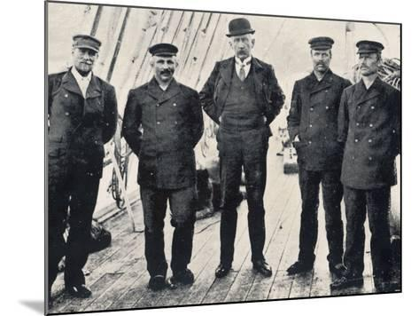 Amundsen and His Team at Hobart--Mounted Photographic Print