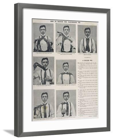 How to Tie the Ascot Necktie--Framed Art Print