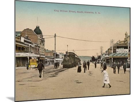 Train on King William Street, Adelaide, South Australia, 1900s--Mounted Photographic Print
