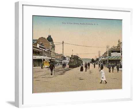 Train on King William Street, Adelaide, South Australia, 1900s--Framed Art Print