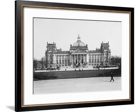 The Reichstag, Berlin, Germany in the Early 20th Century-Robert Hunt-Framed Art Print