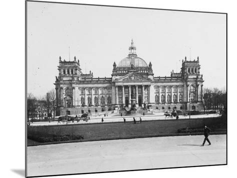 The Reichstag, Berlin, Germany in the Early 20th Century-Robert Hunt-Mounted Photographic Print