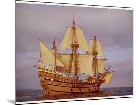 """Model of the Ship Which Carried the """"Pilgrim Fathers"""" from Europe to the New World--Mounted Photographic Print"""