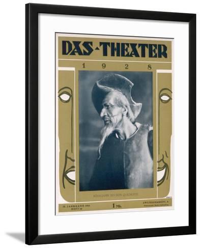 Fyodor Ivanovich Chaliapin Russian Opera Singer as Don Quichotte--Framed Art Print