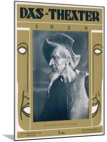 Fyodor Ivanovich Chaliapin Russian Opera Singer as Don Quichotte--Mounted Photographic Print