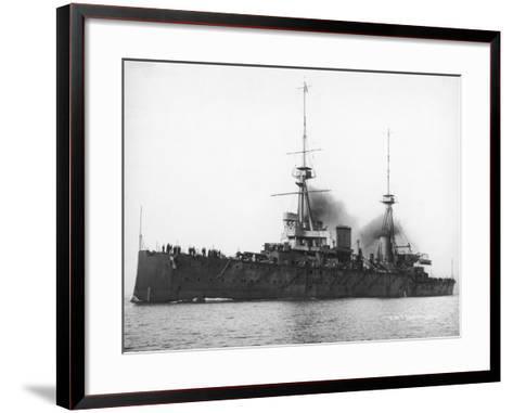 HMS Invincible--Framed Art Print