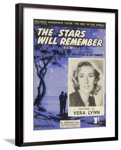 Vera Lynn Popular English Singer: The Stars Will Remember--Framed Art Print