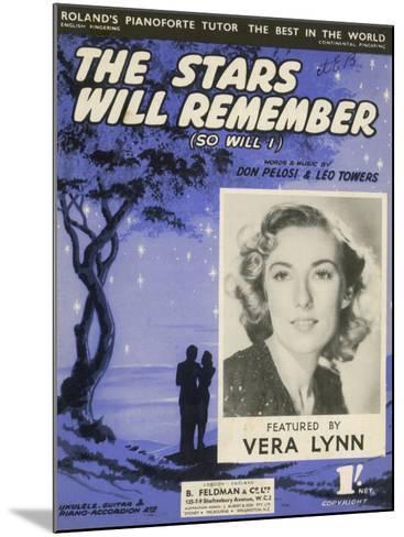 Vera Lynn Popular English Singer: The Stars Will Remember--Mounted Photographic Print