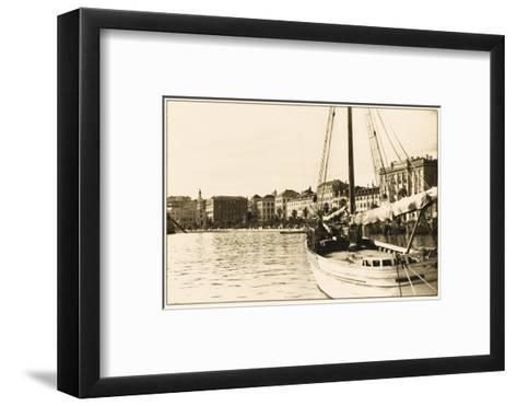 Split - Croatia - the Harbour--Framed Art Print