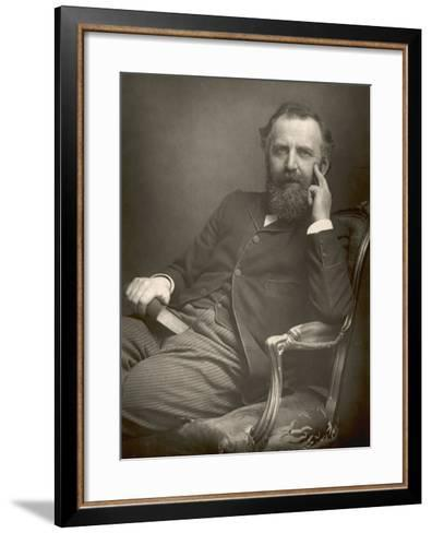 William Thomas Stead English Journalist in 1893-W&d Downey-Framed Art Print