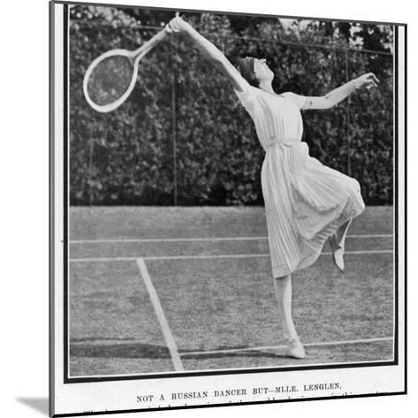 Suzanne Lenglen Taking a Shot--Mounted Photographic Print