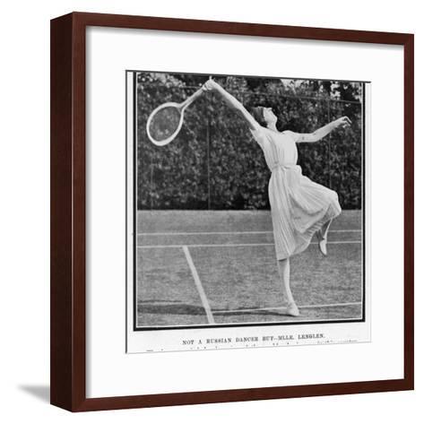 Suzanne Lenglen Taking a Shot--Framed Art Print