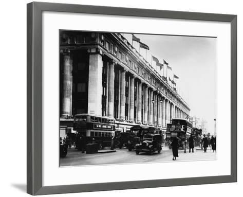 An Exterior View of Selfridges Department Store on London's Oxford Street--Framed Art Print