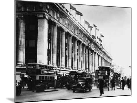 An Exterior View of Selfridges Department Store on London's Oxford Street--Mounted Photographic Print