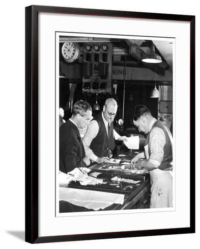 Anxious Moments in the Daily Mail Composing Room--Framed Art Print