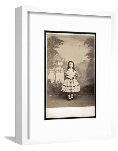 Girl's Costume--Framed Art Print