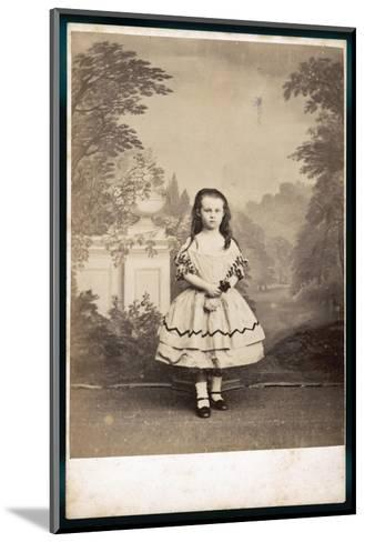 Girl's Costume--Mounted Photographic Print