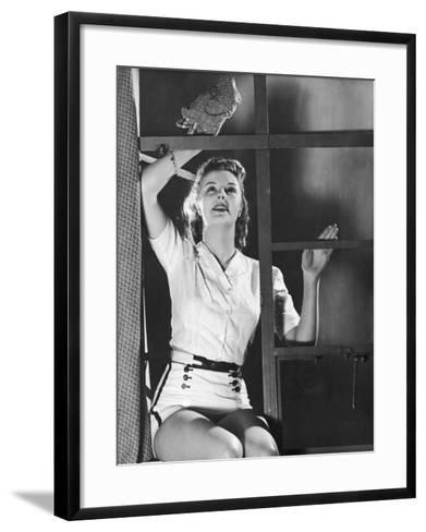 Dusting for Exercise--Framed Art Print