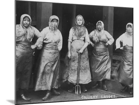 Colliery Lasses' of Wigan--Mounted Photographic Print