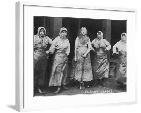 Colliery Lasses' of Wigan--Framed Art Print
