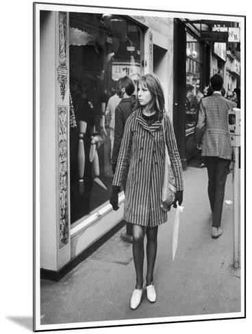 Carnaby Street Girl--Mounted Photographic Print