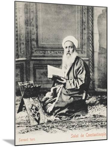 Constantinople - Turkish Religious Scholar--Mounted Photographic Print