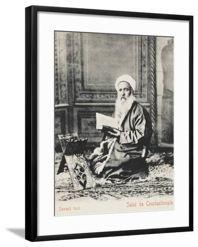 Constantinople - Turkish Religious Scholar--Framed Art Print