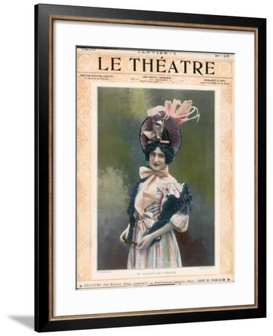 Cecile Thevenet Mezzo-Soprano, Seen Here in the Role of Musette in Leoncavallo's 'La Boheme'--Framed Art Print