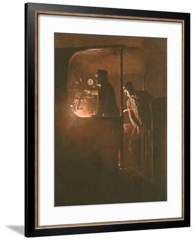 Engine Driver Photo--Framed Art Print