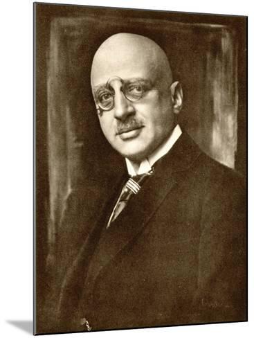 Fritz Haber German Chemist--Mounted Photographic Print