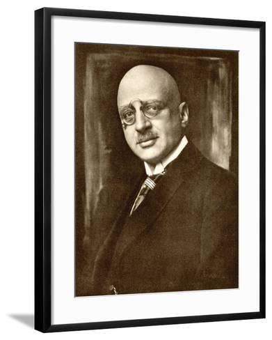 Fritz Haber German Chemist--Framed Art Print