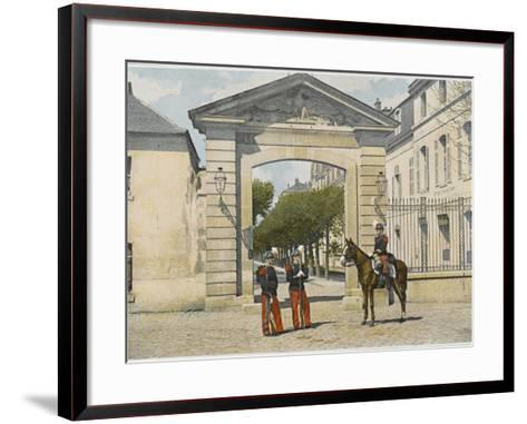 Entrance to Saint-Cyr--Framed Art Print