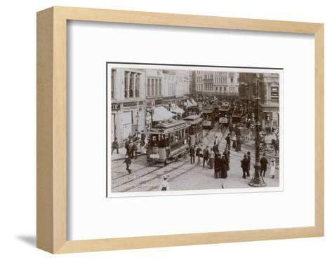 Hamburg Street Scene--Framed Art Print